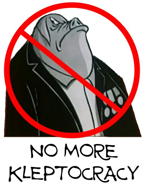 No more kleptocracy