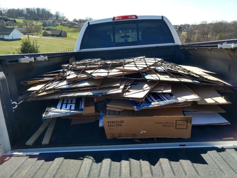 Cardboard recycling run 2020feb22