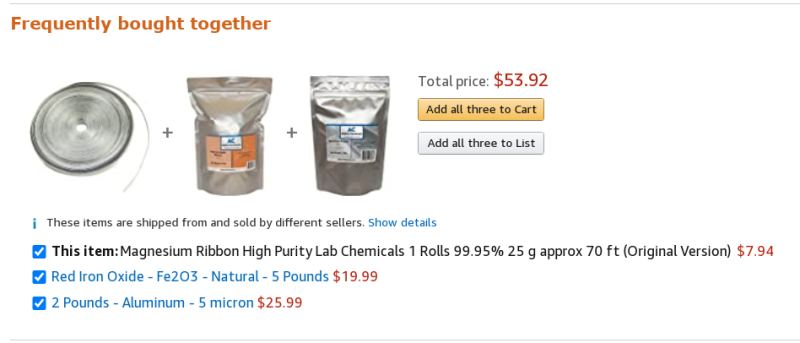 Amazon frequently bought together 2020aug01