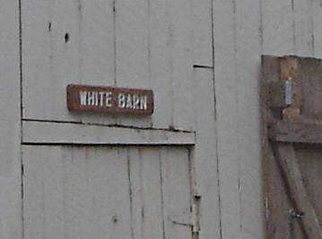 White barn detail