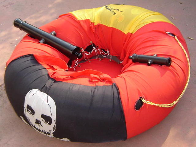 Innertube with cannon